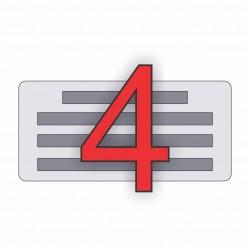 4 soros bélyegző készítés