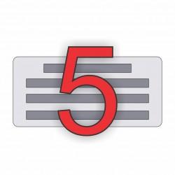 5 soros bélyegző készítés