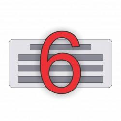 6 soros bélyegző készítés
