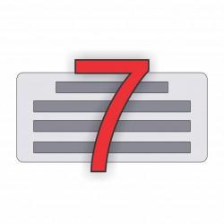 7 soros bélyegző készítés