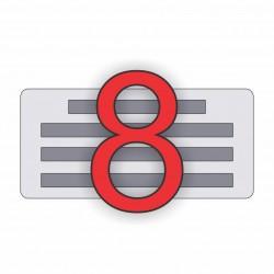 8 soros bélyegző készítés