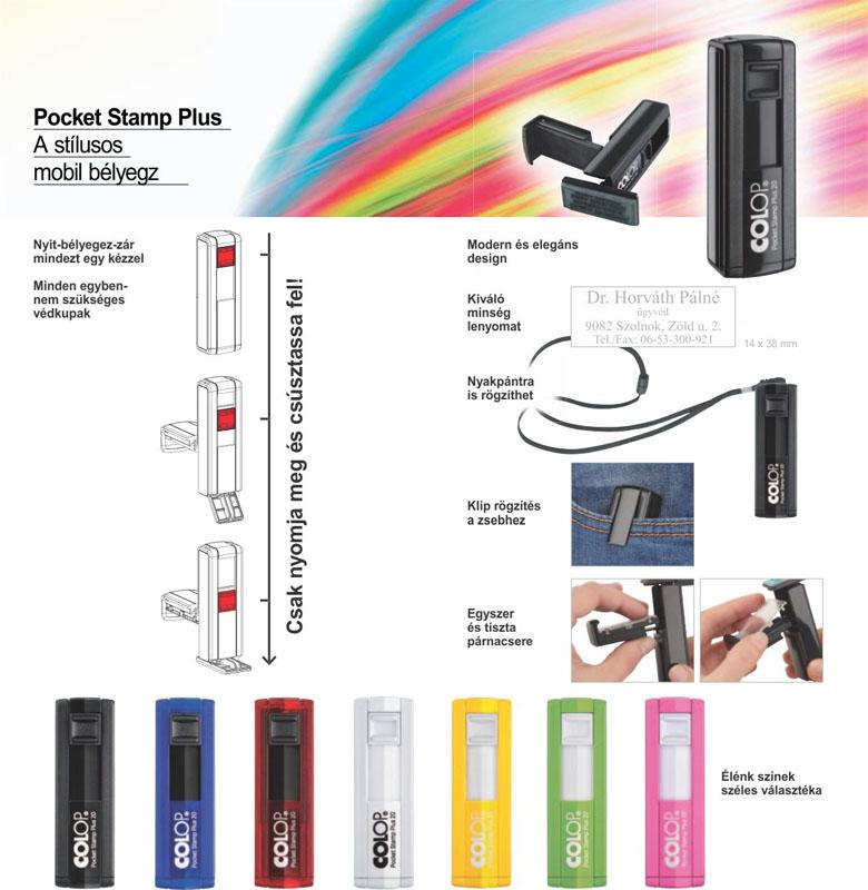 Pocket Stamp Plus zsebbélyegző előnyök és működés!